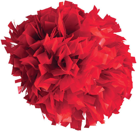 Pizzazz 1 Color Plastic Cheerleaders Poms - Red