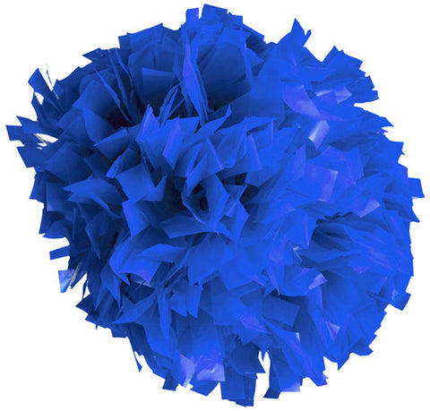 Pizzazz 1 Color Plastic Cheerleaders Poms - Royal