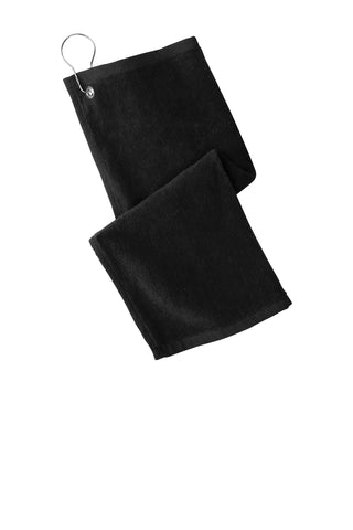 Port Authority PT400 Grommeted Hemmed Towel - Black - HIT A Double