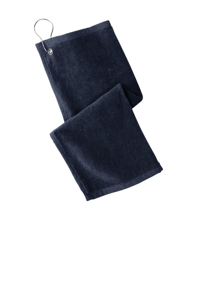 Port Authority PT400 Grommeted Hemmed Towel - Navy