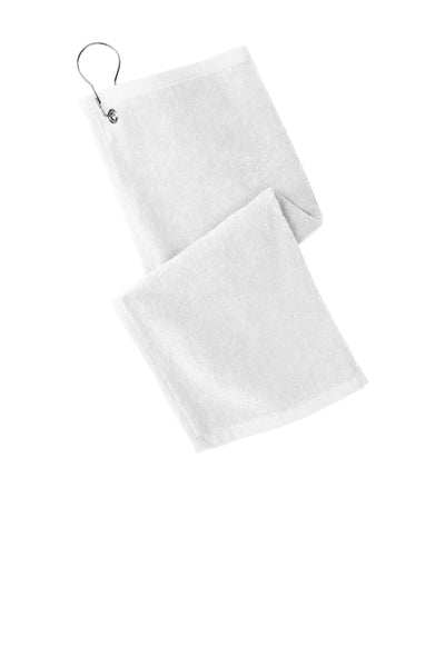 Port Authority PT400 Grommeted Hemmed Towel - White