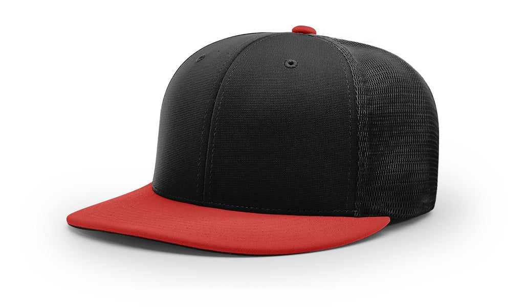 Richardson PTS20M Pulse/Mesh Back R-Flex Cap - Black Red