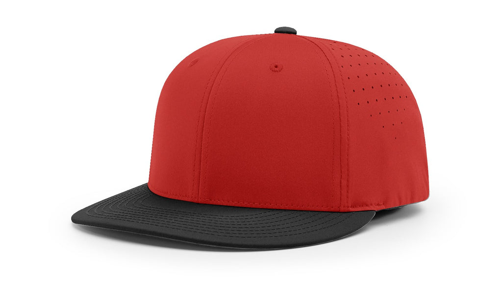 Richardson PTS30 Lite R-Flex Cap - Red Black