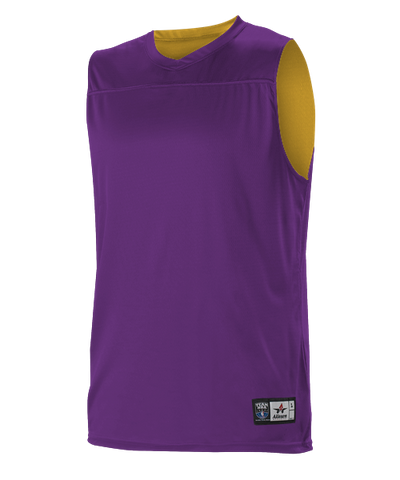 Alleson A105BY Youth NBA Blank Reversible Game Jersey - Purple Gold