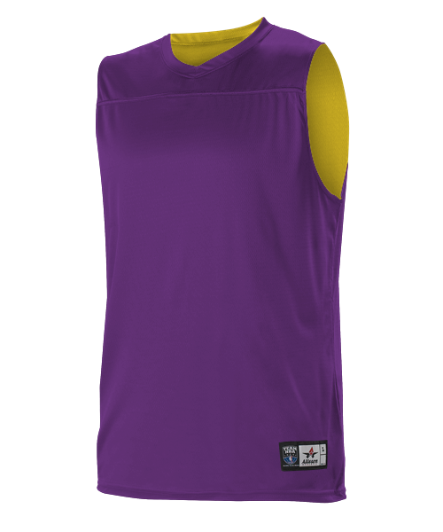 Alleson A105BA Adult NBA Blank Reversible Game Jersey - Purple Gold