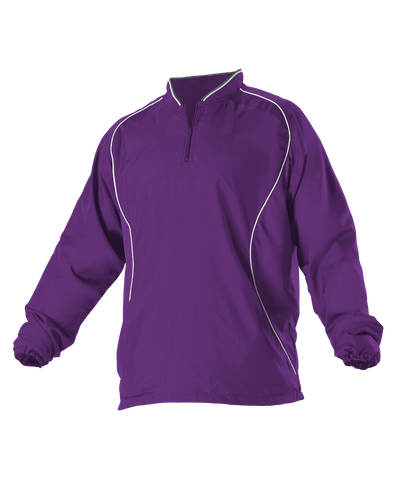 Alleson 3J13A Adult Multi Sport Travel Jacket - Purple White