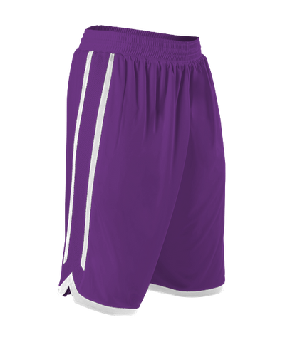 Alleson 588PY Youth Reversible Basketball Short - Purple White