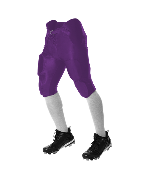 Alleson 688DY Youth Solo Series Integrated Football Pant - Purple - Football - Hit A Double