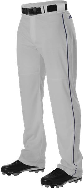 Alleson PWRPBP Adult Warp Knit Baseball Pant with Side Braid - Gray Navy