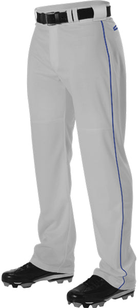 Alleson PWRPBP Adult Warp Knit Baseball Pant with Side Braid - Gray Royal