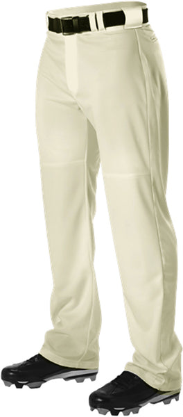 Alleson PWRPP Adult Warp Knit Wide Leg Baseball Pant - Vintage White