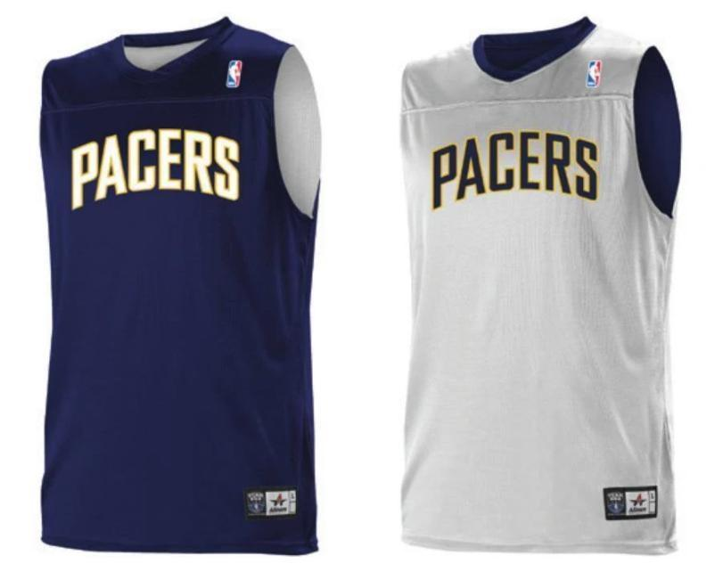 d2ee059782e Alleson A105LA Adult NBA Logo Reversible Game Jersey - Indian Pacers ...