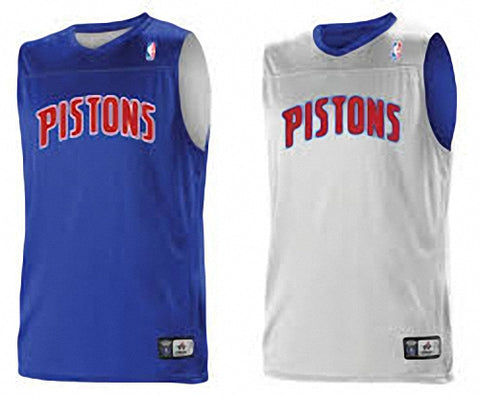 Alleson A105LA Adult NBA Logo Reversible Game Jersey - Detroit Pistons