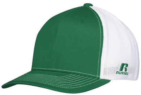 Russell R02TMB Youth Flexfit Twill Mesh Cap - Kelly White - HIT A Double