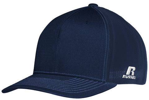 Russell R02TMB Youth Flexfit Twill Mesh Cap - Navy - HIT A Double
