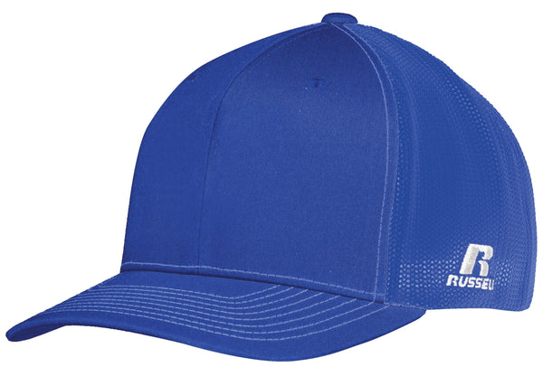Russell R02TMB Youth Flexfit Twill Mesh Cap - Royal - HIT A Double