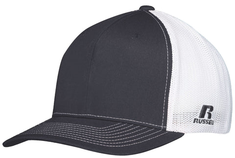 Russell R02TMB Youth Flexfit Twill Mesh Cap - Stealth White - HIT A Double