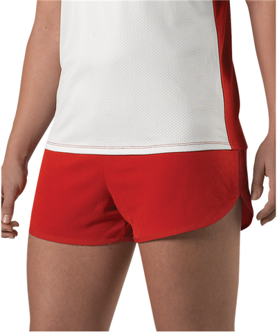 Alleson R3LFPW Women's Woven Track Short - Scarlet - Training/Running - Hit A Double