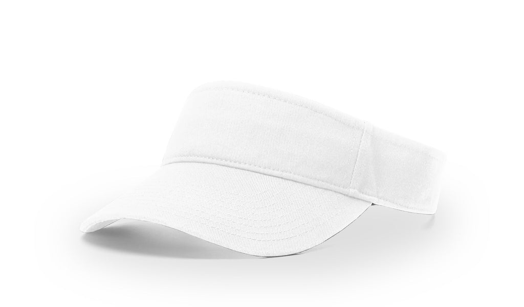 Richardson R45 Garment Washed Visor - White