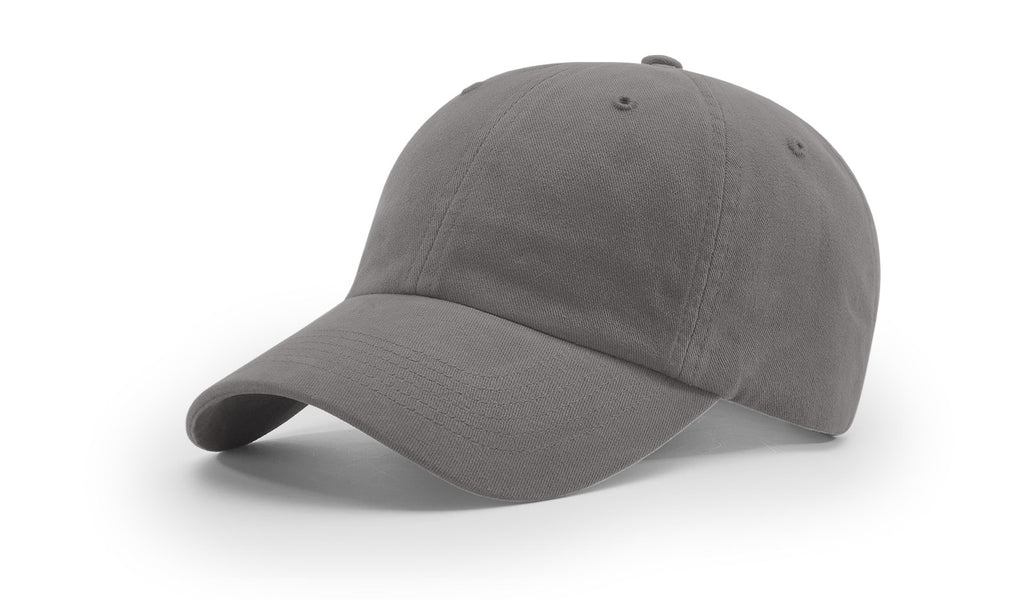 Richardson R55 Garment Washed Twill Cap - Charcoal