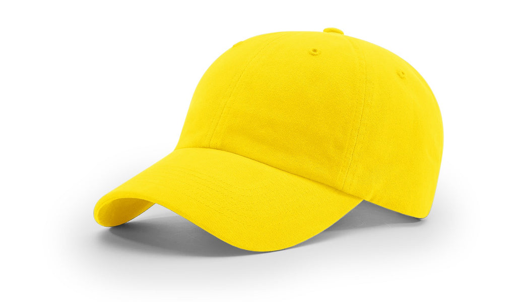Richardson R55 Garment Washed Twill Cap - Yellow