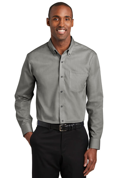 Red House RH240 Pinpoint Oxford Non-Iron Shirt - Charcoal