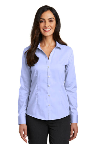 Red House RH250 Ladies Pinpoint Oxford Non-Iron Shirt - Blue