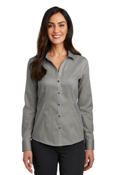 Red House RH250 Ladies Pinpoint Oxford Non-Iron Shirt - Charcoal - HIT A Double