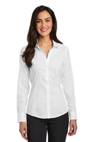 Red House RH250 Ladies Pinpoint Oxford Non-Iron Shirt - White - HIT A Double