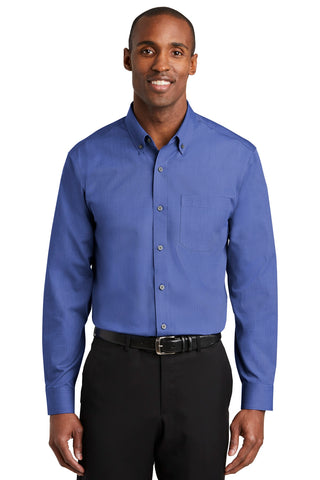 Red House RH370 Nailhead Non-Iron Shirt - Mediterranean Blue