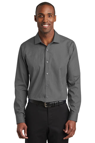 Red House RH390 Slim Fit Nailhead Non-Iron Shirt - Black - HIT A Double