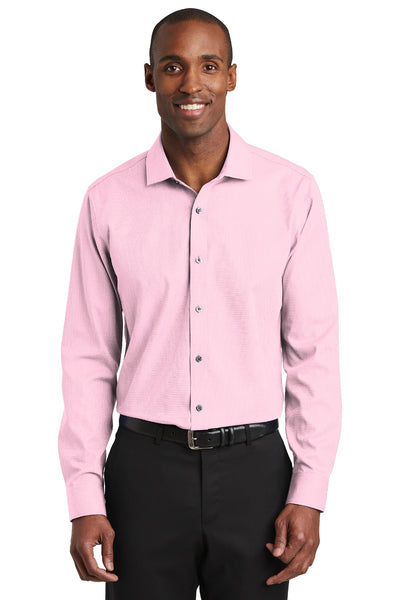 Red House RH390 Slim Fit Nailhead Non-Iron Shirt - Pink - HIT A Double