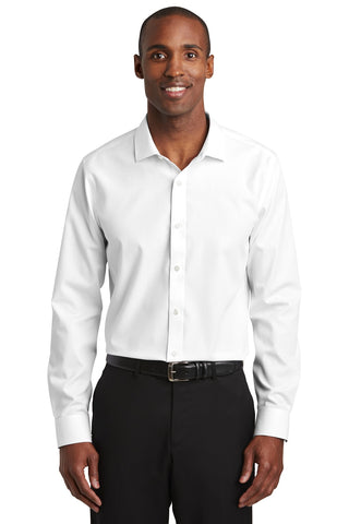 Red House RH390 Slim Fit Nailhead Non-Iron Shirt - White - HIT A Double