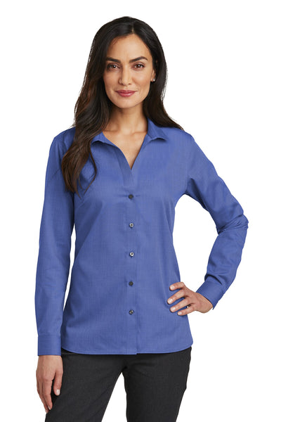 Red House RH470 Ladies Nailhead Non-Iron Shirt - Mediterranean Blue - HIT A Double