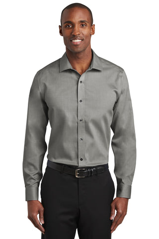 Red House RH620 Slim Fit Pinpoint Oxford Non-Iron Shirt - Charcoal - HIT A Double
