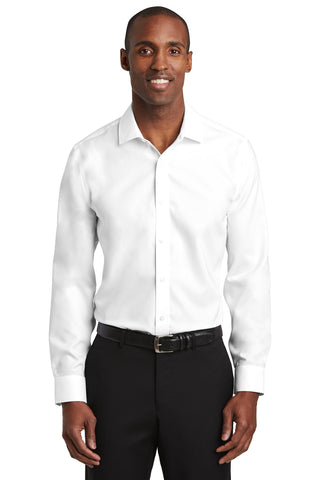 Red House RH620 Slim Fit Pinpoint Oxford Non-Iron Shirt - White - HIT A Double