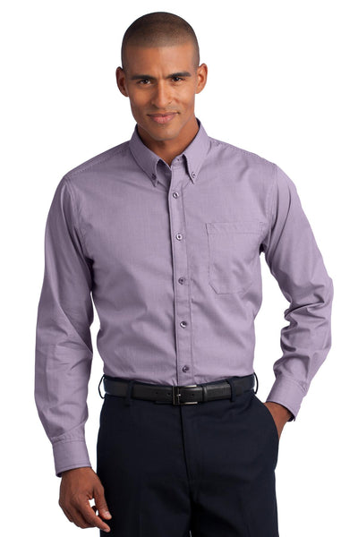 Red House RH66 Mini-Check Non-Iron Button-Down Shirt - Bermuda Purple - HIT A Double