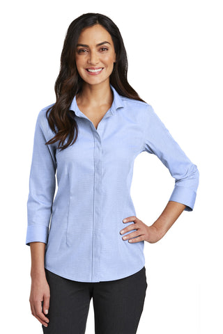 Red House RH690 Ladies 3/4-Sleeve Nailhead Non-Iron Shirt - Blue Pearl - HIT A Double
