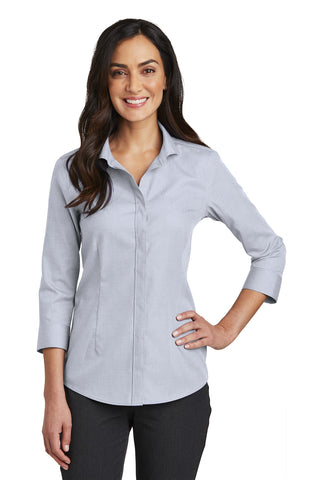Red House RH690 Ladies 3/4-Sleeve Nailhead Non-Iron Shirt - Ice Gray - HIT A Double