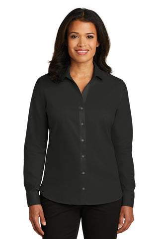 Red House RH79 Ladies Non-Iron Twill Shirt - Black - HIT A Double