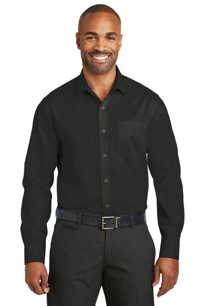 Red House RH80 Slim Fit Non-Iron Twill Shirt - Black - HIT A Double