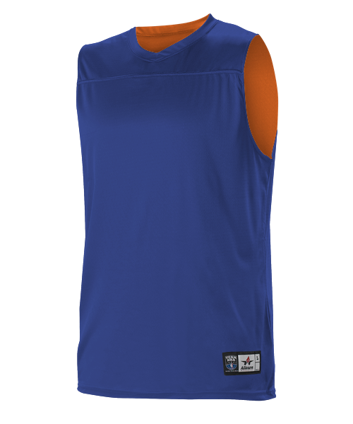 Alleson A105BY Youth NBA Blank Reversible Game Jersey - Royal Orange