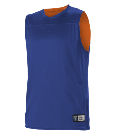 Alleson A105BA Adult NBA Blank Reversible Game Jersey - Royal Orange