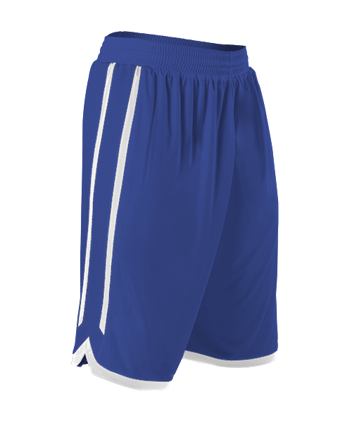 Alleson 588PY Youth Reversible Basketball Short - Royal White