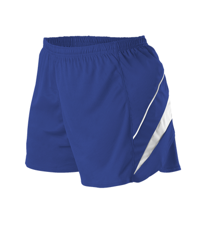 Alleson R1LFPW Women's Loose Fit Track Short - Royal White - Training/Running - Hit A Double