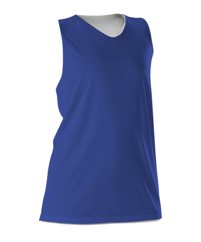 Alleson 506CRW Women's Reversible Racerback Tank - Royal White - Basketball, Lacrosse/Field Hockey - Hit A Double