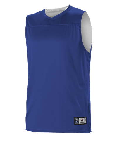 Alleson A105BY Youth NBA Blank Reversible Game Jersey - Royal White