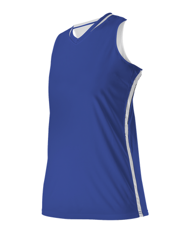 Alleson 531RWY Girl's Reversible Basketball Jersey - Royal White - Basketball - Hit A Double