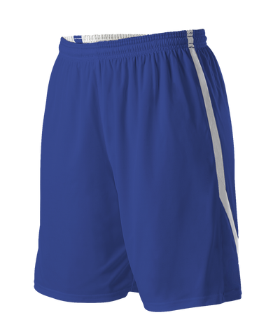 Alleson 531PRWY Girl's Reversible Basketball Short - Royal White - Basketball, Lacrosse/Field Hockey, Softball Apparel, Volleyball Apparel Girls, Training/Running - Hit A Double