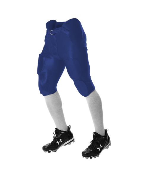 Alleson 681Y Youth Integrated Football Pant - Royal - Football - Hit A Double